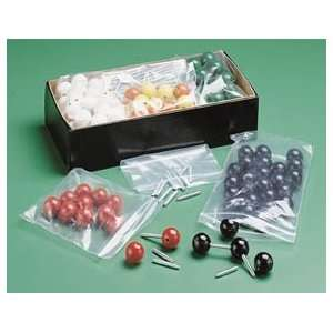 Wooden Molecular Model Building Kit; Replacement Atoms; Carbon; Pack