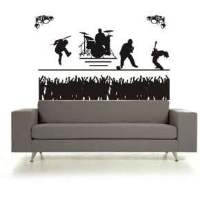 BIG BIG BIG Rock Band Concert and Crowd Sticker Wall Decal