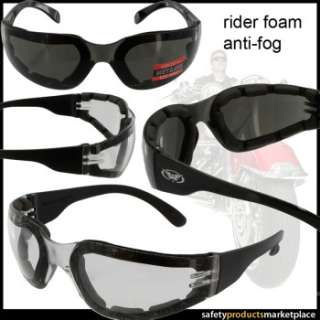 Rider Jr Size Motorcycle Goggles  EVA FOAM Padded Options   Safety