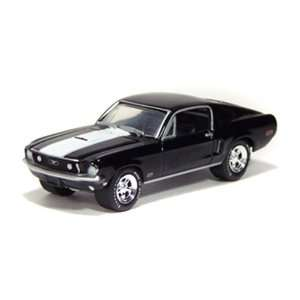 1968 Ford Mustang Cobra Jet 1/64 Black Toys & Games