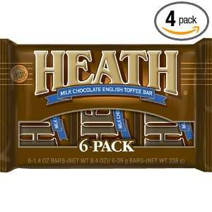 Heath Candy Bar, Milk Chocolate & English Toffee, 8.4 Ounce Packages