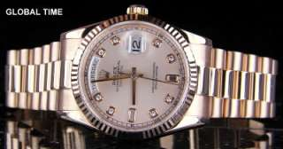 Serial 2007 FACTORY PINK DIAMOND DIAL RETAIL NOW OVER $37,000