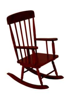 Kidkraft Kids Spindle Rocking Chair Wood Rocker Cherry