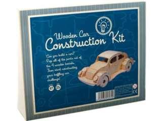 NEW Wooden Construction Build A Car 3D Model Kit Puzzle
