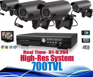 Camera High Res CCTV Outdoor Security DVR system 1TB