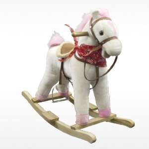 Plush Pink Girls Rocking Horse with Sound Toy Holiday Gift