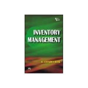 Inventory Management (9788120328532): D.Chandra Bose: Books