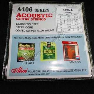 New Alice Acoustic Guitar Strings Set Light Steel Core