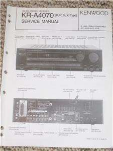 Orig. Kenwood KR A4070 Stereo Receiver Service Manual
