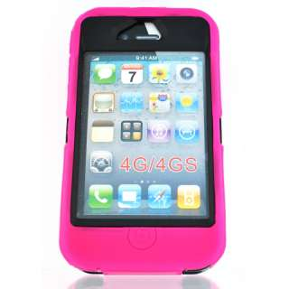 For iPhone 4 4S S TPU Three layer Armor Hybrid Case Phone Cover USA
