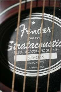 Fender Stratacoustic Acoustic Electric Guitar w/Bg 3TN Preamp & Gig