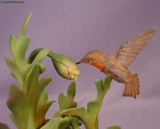 Boehm Bird Porcelain Figurine Rufous Hummingbirds # 487