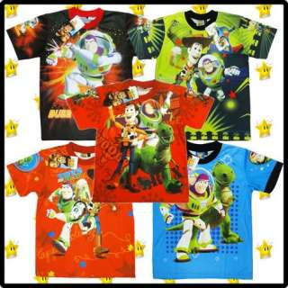 DISNEY TOY STORY Boys Kids Clothes Top Tshirt Cartoon Characters Buzz