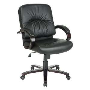 Office Star Work Smart Black ( 3) Leather WD5331 EC3