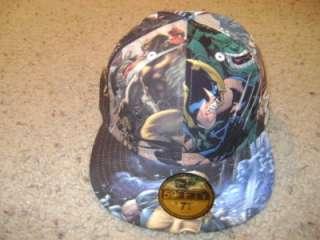 LOT of 4 Marvel / DC Comic Superhero Hat Cap Size 7 3/4 NEW New Era