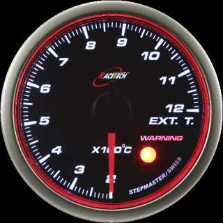 52mm RACE TECH RED/WHITE LED Angel Ring OIL TEMP GAUGE