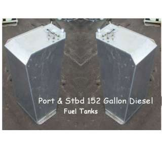 152 GALLON BOAT MARINE DIESEL / FUEL TANK SET OF TWO