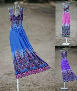 CELEB Long MAXI Summer Womens DRESS with BRA Size 8 14