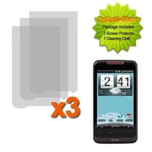 For HTC Merge ADR6325 Cell Phone 3x Anti Glare LCD Film Guard Screen