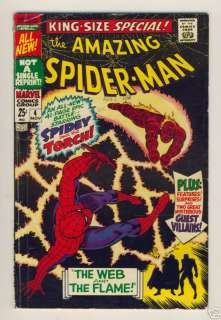 AMAZING SPIDER MAN SPECIAL #4 MARVEL COMICS SILVER AGE