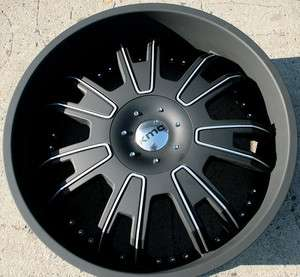 KMC SHILO 664 24 BLACK RIMS WHEELS MONTE CARLO RIVIERA RWD