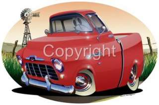 1956 Chevy Cameo Pickup Truck T Shirt #6765 GM NWT