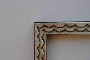 Custom Silver Art Deco Photo/Picture Frame Up To 18x24