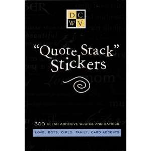 Self Adhesive Clear Sticker Quotes and Sayings Arts, Crafts & Sewing