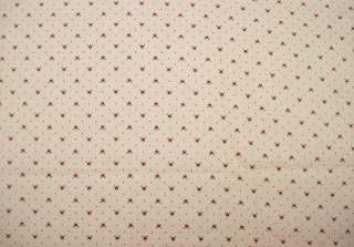 Tan and Burgundy Hearts Cotton Fabric by Wamsutta OTC