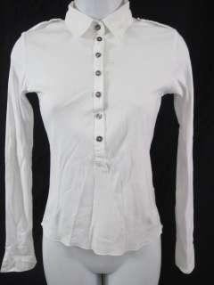 VELVET White Collar Long Sleeve Shirt Top SZ S