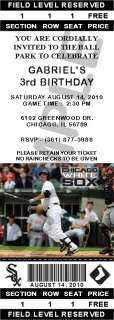 24 Chicago White Sox Birthday Ticket Invitations