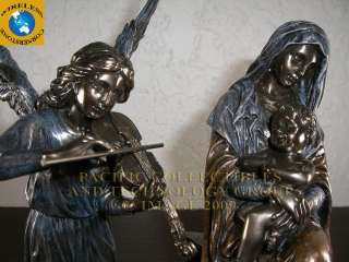 MARY AND BABY JESUS WITH ANGEL LULLABY STATUE FIGURINE