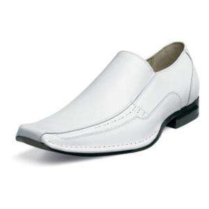 Stacy Adams Templin Mens Leather Shoes White (24507)