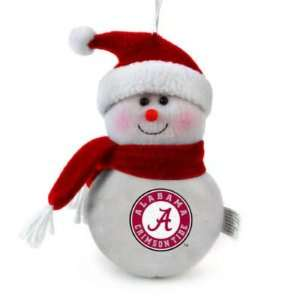 ALABAMA CRIMSON TIDE SNOWMAN CHRISTMAS ORNAMENTS (4)