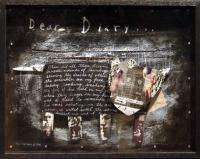Ben Kikuyama Dear Diary cow collage Hand Signed Fine Art Listed Artist