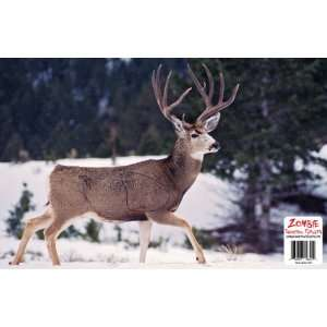 11x17 Mule Deer Shooting Target with Vital Zone Sports