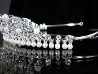 A9011 Wedding Bridal Bridesmaid Prom Party Faux Pearl Swarovski
