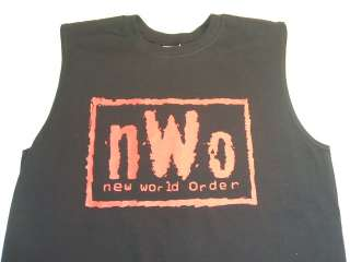 nWo New World Order Sleeveless Black T shirt Red Logo