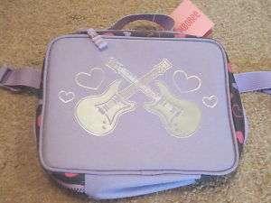 GYMBOREE Girls Purple Guitar Heart School Lunchbox NWT