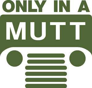 M151 MUTT Jeep logo decal sticker M151A2 M38 m38a1