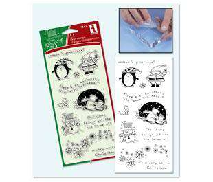 11 Clear Stamps by Inkadinkado CHRISTMAS CHARACTERS