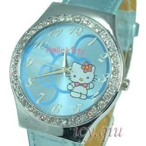 Hello Kitty Blue Bow Cartoon Watch