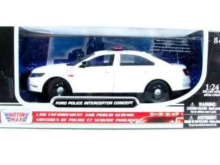 MotorMax FORD POLICE INTERCEPTOR CONCEPT WHITE 1/24