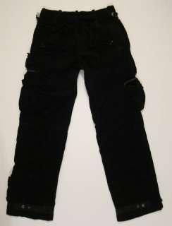 Mens Polo Ralph Lauren black corduroy cargo utility pants sz 34
