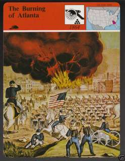 BURNING OF ATLANTA GEORGIA 1864 Civil War STORY CARD