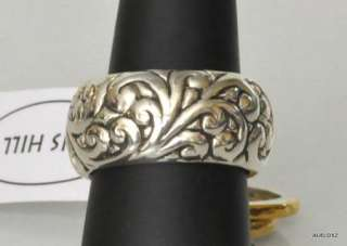 Fabulous New LOIS HILL Repousse Sterling Silver Gold 3 Stacking Ring