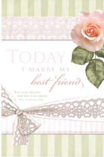 ) Today I Marry My Best Friend   Pink Rose Wedding Programs