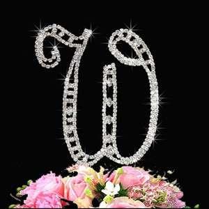 Crystal Monogram Letter Wedding Cake Topper  Swarovski Rhinestone cake