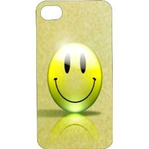 Clear Hard Plastic Case Custom Designed Smiley Face iPhone