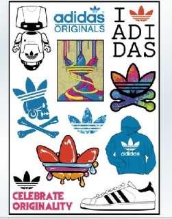 11 OF Adidas Originals LOGO VINYL STICKER DECAL,RARE
